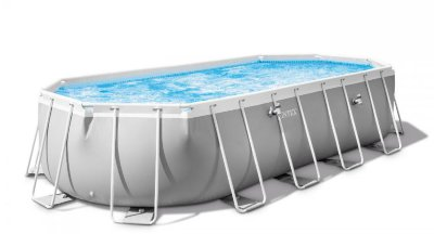 Бассейн каркасный  Prism Frame Pool Oval (ромб) 610 х 305 х 122см, Intex 26798